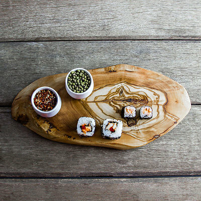 Rustic Oval Olive Wood Cheese/Chopping Board - Length 27-30CM(F2CBN30)