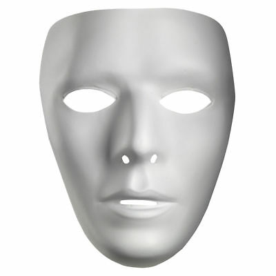 Blank White Mask Best Mtvs Dance Crew White Mime Artist Male Costume Accessories](Best Halloween Costumes Womens)