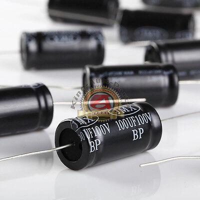 Non-polarized Electrolytic Audio Capacitor 100mfd 100uf 100v 10pk Free Shippi