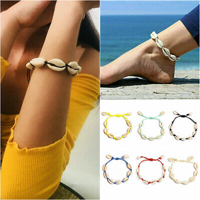 Sea Shell Bracelet Women Girls Jewelry Summer Beach Adjustable Ankle Bracelet US