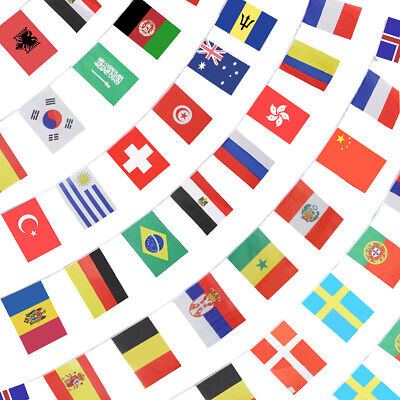 Country Flag Banners (Anley 184Ft 200 Countries String Flag International Bunting Banners 200)