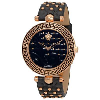 Versace Women's Watch Vanitas Quartz Black Dial Strap VK7530017