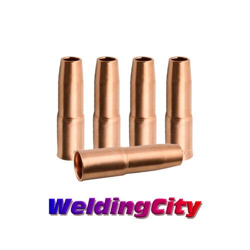 "WeldingCity® 5-pk MIG Welding Gun Nozzle 22-50-SS 1/2"" for Tweco Lincoln 200-400"