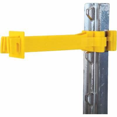 Dare Snug Snap-on Yellow Polyethylene Electric Fence Insulator 15-pack