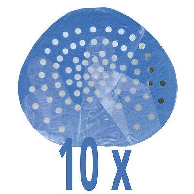 Pissoireinlage - Urinaleinlage - Urinalsieb - Kunststoff blau - 10er Set