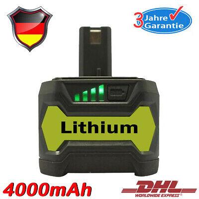 P108 für Ryobi Batterie ONE+ RB18L50 P104 P107 RB18L40 P780 18Volt 4.0Ah Lithium ()