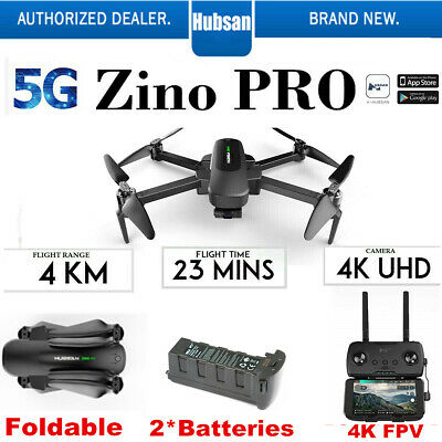 Hubsan ZINO PRO Drone 4.5KM FPV 4K Camera Foldable Quadcopter 3 Gimbal+2Battery