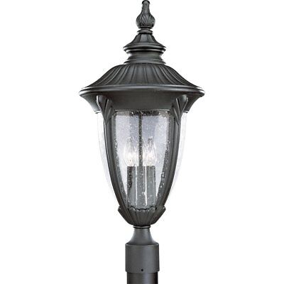 - Progress Lighting P5420-31 Meridian Cast Aluminum Post Lantern, Textured Black