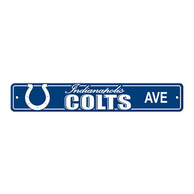 NFL Indianapolis Colts Home Room Bar Office Decor AVE Street Sign 4