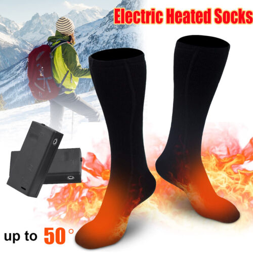 Winter Warmer Electric Thermal Heated Socks Rechargeable Battery Boot Feet Foot