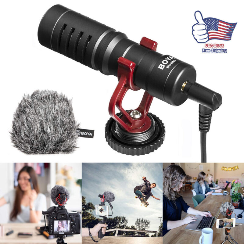 Proessional Cardioid Shotgun Microphone MIC for DSLR Camera Smartphone Camcorder
