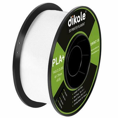 Dikale PLA 3D Printer Filament 1.75mm Net Weight 2.2lbs (1kg) White