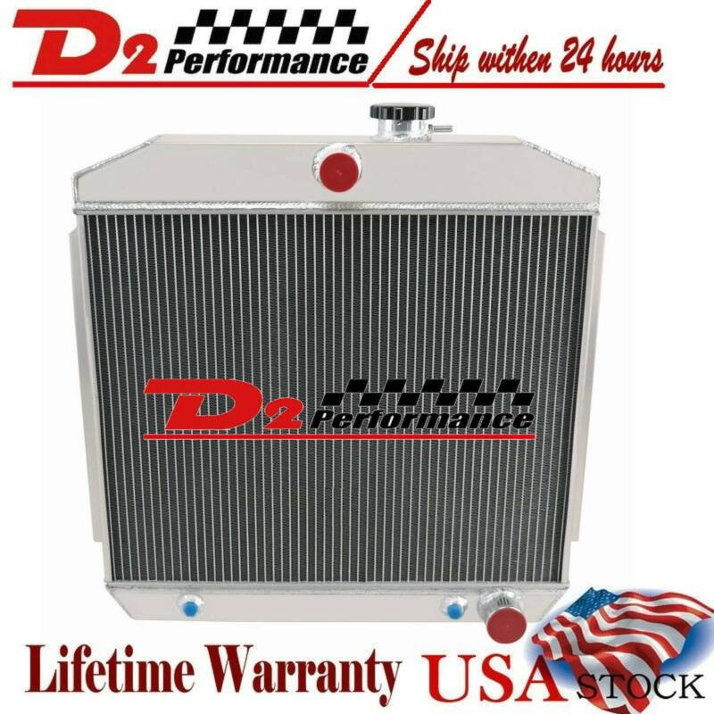 4 Row Core Aluminum Radiator For 1955 1957 1956 Chevy Bel Air/Nomad 210 150 V8