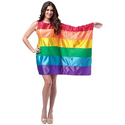 Rainbow Flag Dress Costume Halloween Fancy Dress (Flag Halloween Costume)