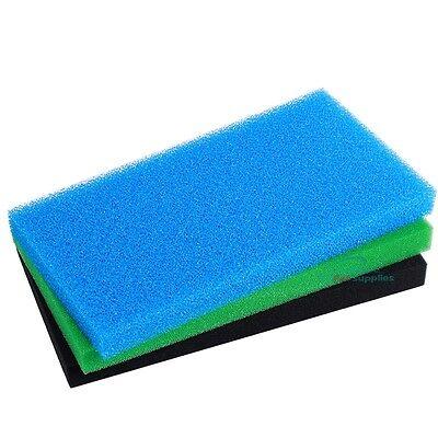 3X Reticulated Open Cell Foam Sponge Filter Media Aquarium Fish HMF Sump 23