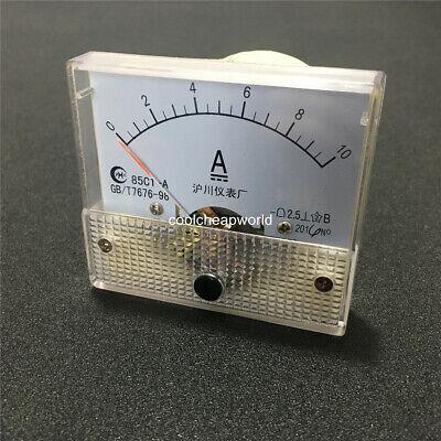 85c1 Dc 0-10a Analog Amp Panel Meter Current Ammeter Ampere Gauge 10a 64x56mm
