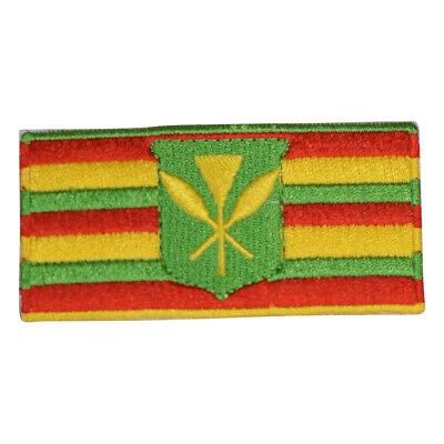 Kanaka Maoli Hawaii Flag Patch - Hawaiian Tradition
