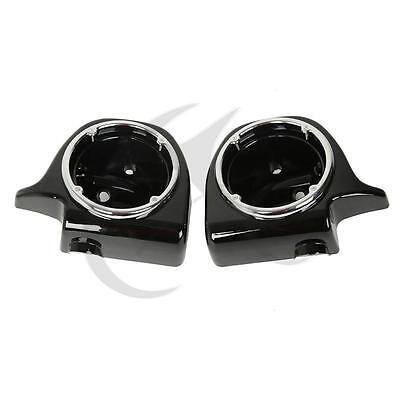 """Lower Vented Leg Fairing 6.5"""" Speaker Box Pods For Harley Touring FLHT FLHX FLTR"""