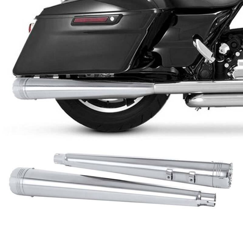 "4/"" Megaphone Slip-On Exhaust Mufflers Fit For Harley Road King Glide 1995-2016"