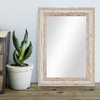 Spiegel Shabby-Chic Vintage Holz Weiss Grau Dunkel-Braun Foto Rahmen Bild Mirror