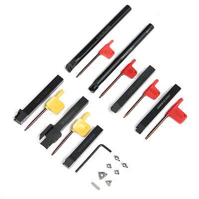 7pcs Set 12mm Lathe Turning Tool Holder Boring Bar Dcmtccmt Carbide Insert