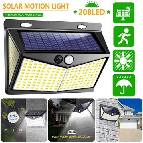208 LED Solar Lamp Power Light PIR Motion Sensor Outdoor Wall Waterproof Garden Home & Garden