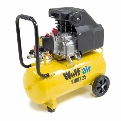 Wolf Air Compressor 24 Litre 2.5hp 8bar 116psi 9.6cfm 230v 24L Ltr with Wheels