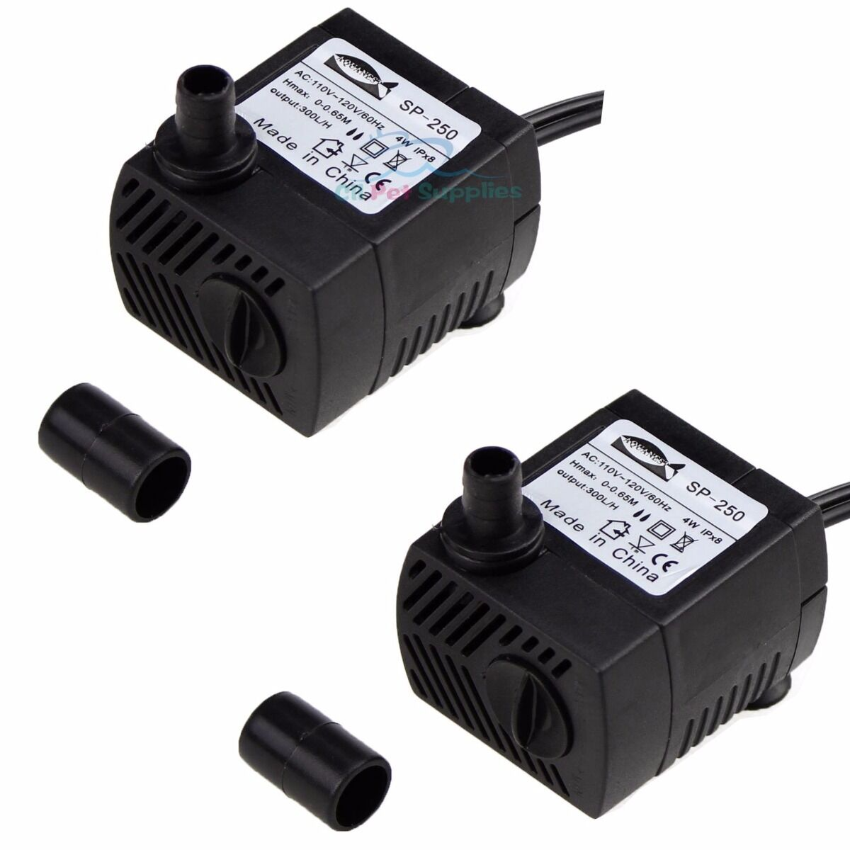 Купить AQUANEAT - 2X 80GPH Submersible Water Pump Aquarium Fish Tank Powerhead Fountain Hydroponic