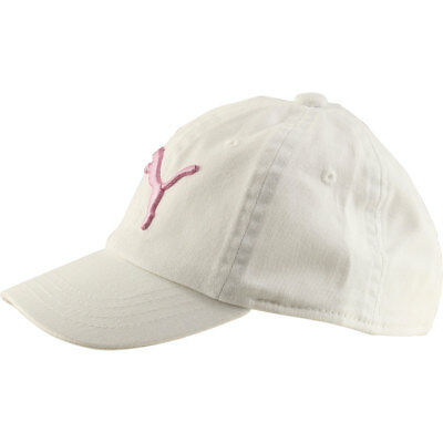 timeless design 89c0a 0a3fd Puma Girl s Kids Evercat Podium White Pink Cotton Baseball Cap Hat