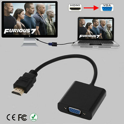 HDMI Male to VGA Female 1080P Chipset Adapter Video Cord Converter Cable For PC
