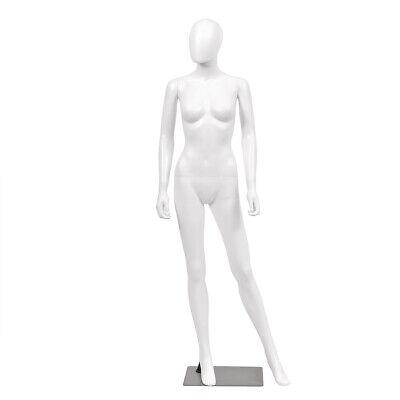 5.8 Ft Female Mannequin Egghead Plastic Full Body Dress Form Display Wbase New