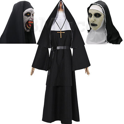 Women Dress Nun Robes The Conjuring Scary Valak Suit For The Nun Cosplay Costume](Scary Halloween Costumes For Ladies)