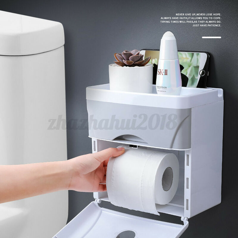Paper Towel Dispenser Wall Mounted Paper Holder Bathroom Toilet Tissu