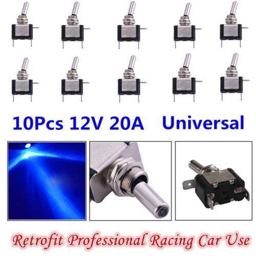 10 Pieces 12V 20A Blue LED Light Rocker Toggle Switch ON/OFF Car/Van/Dash/Boat