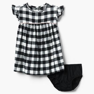 Black And White Girl Dresses (NWT Gymboree Checkered Dress Toddler Girl Black and White Plaid Many)
