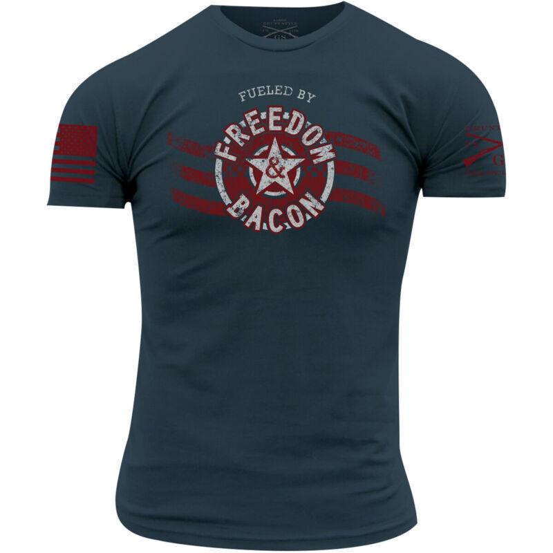 Grunt Style Freedom & Bacon T-Shirt - Blue