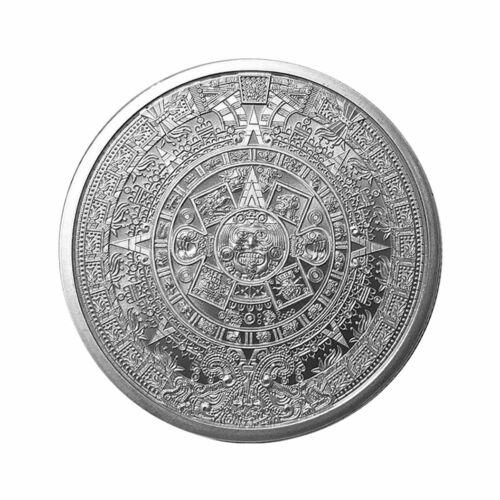 Golden State Mint Aztec Calendar 1 oz. Silver Round GEM BU SKU55694