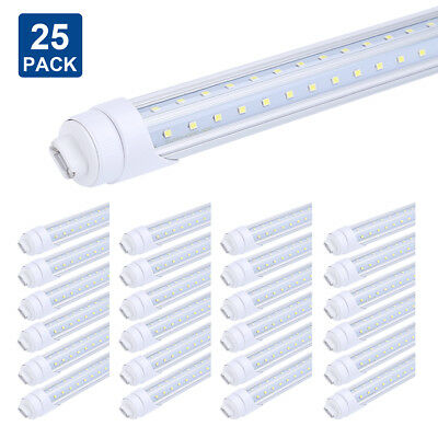 T8/T10/T12 8FT LED Tube Light Bulbs, R17D/HO Base V Shaped LED Tube Replacement