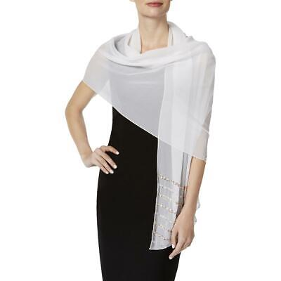 INC Womens White Sequined Sheer Shawl/Wrap O/S BHFO 2649