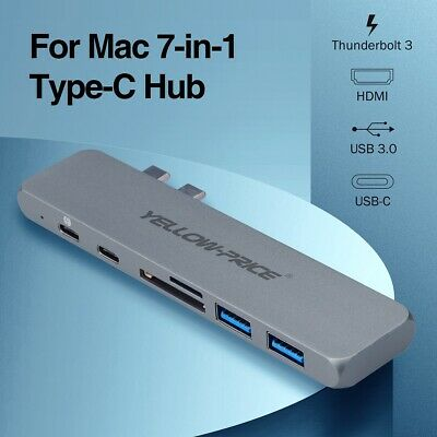USB C Hub,Type C PD Hub for MacBook Air 2018, MacBook Pro 2018/2017/2016 4K HDMI