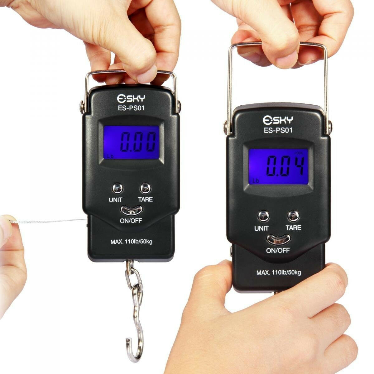 Esky Electronic Hanging Scale ES-PS01 - Luggage Scale with built-in Tape Measure