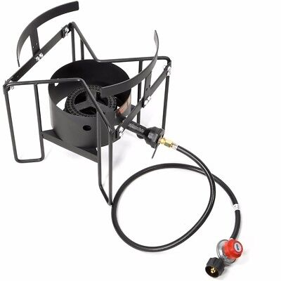 20psi Turkey Fryer Stand Gas Propane Stove Single Burner Outdoor Cooking (Gas Turkey Fryer)