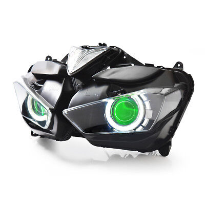 KT LED  Headlight Assembly for Yamaha YZF R3 2015 2016 2017 2018 Green