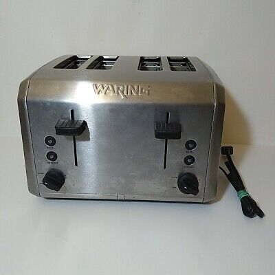 Waring Pro 4 Slice Commercial Toaster Wt400 - Stainless - Tested Works