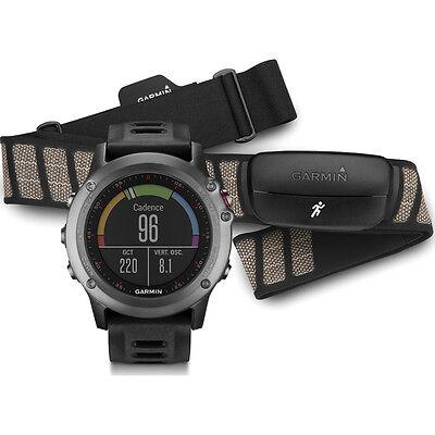 Garmin Fenix 3 Multisport Training Gps Watch In Gray With Heart Rate Monitor