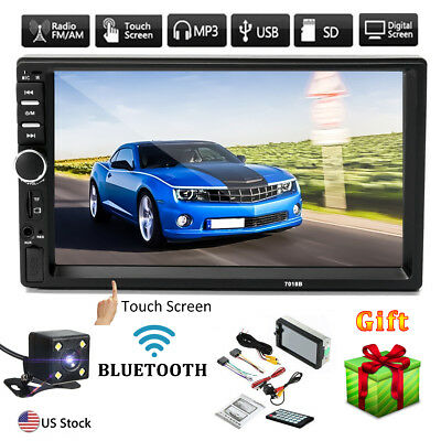 7  Double Car Radio Stereo Mp5 Mp3 Player 2 Din In Dash Bluetooth Fm Aux Usb Usa