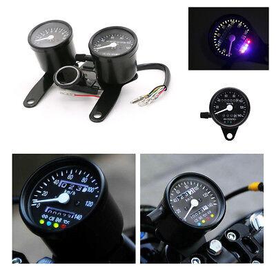 Motorcycle Odometer Speedometer Tachometer Gauge For Chopper Bobber Cafe Racer