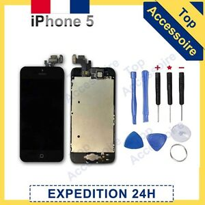 Ecran iphone 5 noir complet original vitre tactile lcd for Ecran photo noir iphone 5