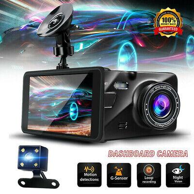 "4"" Dual Dash Cam Front and Rear 1080p HD Car Truck DVR Dashboard Camera Recorder"