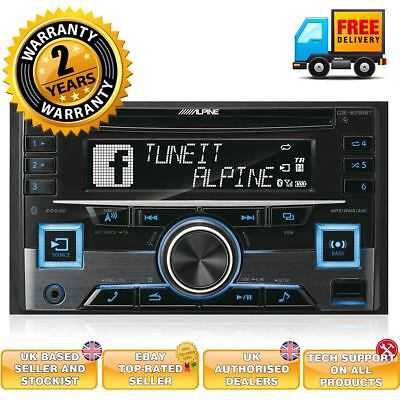 Alpine CDE-W296BT Double Din Car CD MP3 Stereo Bluetooth Aux In USB...